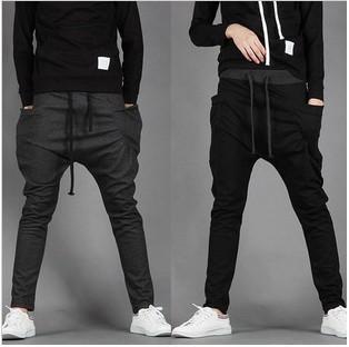 best selling New 2015 Mens Joggers Fashion Harem Pants Trousers Hip Hop Slim Fit Sweatpants Men for Jogging Dance 8 Colors sport pants M~XXL