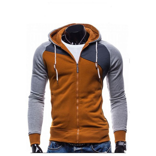 Men Sudaderas Hombre Hip Hop  Leisure Zipper Jacket Hoodie Sweatshirt