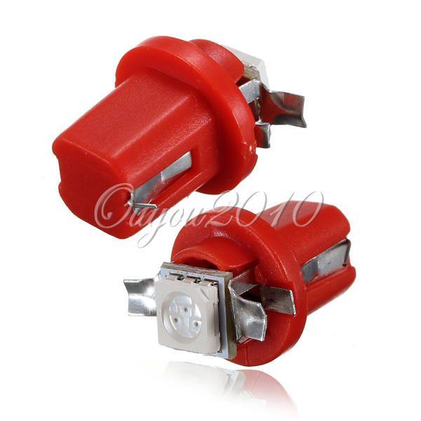 Gauge 10x Blu Rosso Bianco di alta qualità T5 B8.5D Auto Car 5050 Indicatore LED 1SMD Speedo del cruscotto luci laterali Lampadina 12V libera la nave