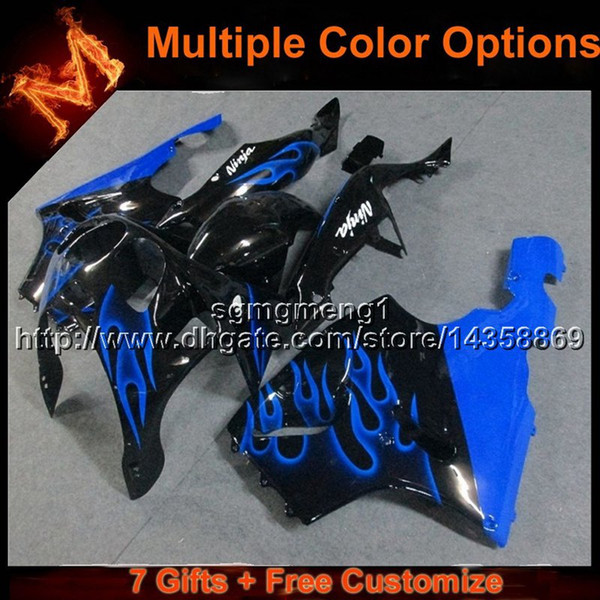 23colors+8Gifts BLUE motorcycle cowl for Kawasaki ZX-7R 1996-2003 96 97 98 99 00 01 02 03 ZX 7R motor cover ABS Plastic Fairing