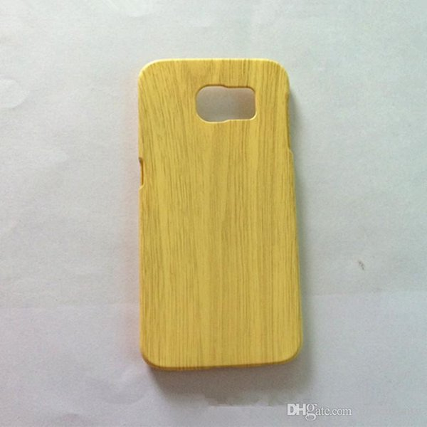 DHL Free!!2015 Samsung Galaxy S6 Ultra Thin Simulation Wood Cell Phone Cases High Quality PC Material Phone Shell For Galaxy S6
