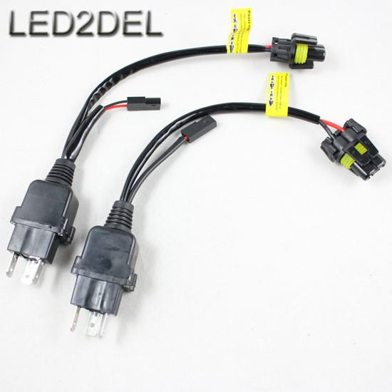 Auto Car Motorcycle HID Bi-Xenon H4-3 H4 9003 HB2 Hi/Lo Controller Relay Wire Wiring Harness 12V 35W/55W
