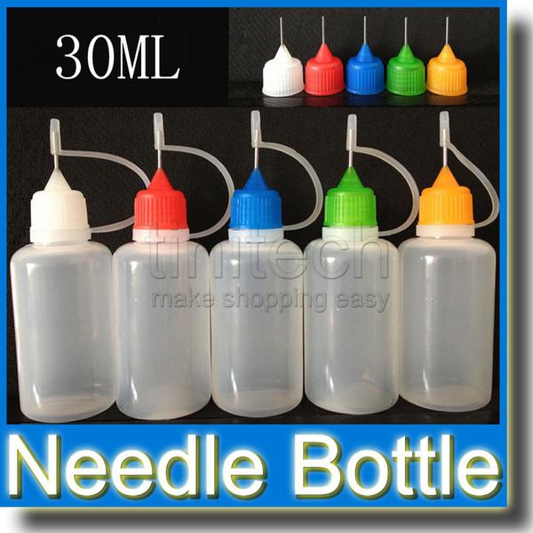 Mix Renk Boş Plastik Doldurma Şişeleri LDPE Sıkılabilir Sıvı Damlalıklı E-Meyve Suyu İğne Ucu 5ml 10ml 15ml 20ml 30ml 50ml