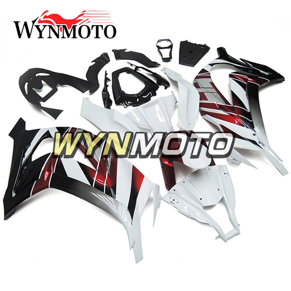 Fairings For Kawasaki ZX-10R 2011 - 2015 2012 2013 2014 ABS Injection Plastics Cowlings Covers Bodywork Hulls White Gloss Red Body Kit Cover