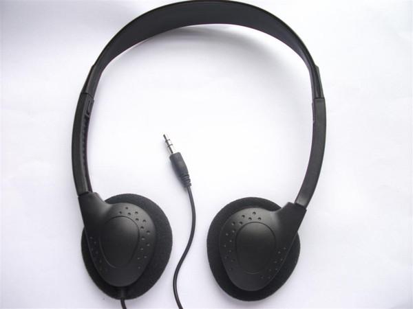 Auriculares baratos disponibles de 3.5mm del bajo costo estéreos baratos del equipo para el hospital y el centro de aptitud 300pcs / lot