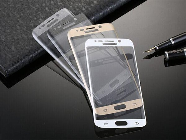 For Samsung Galaxy S6 Edge plus 0.2mm 3D Curved Tempered Glass Full Front Color LCD 9H HD Premium Screen Protector with wooden package