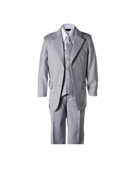 New style little boy suits formal occasion boy tuxedos fashion contracted two button pure color boy suits for wedding(jacket+pants+vest+tie)