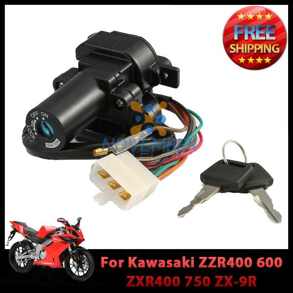 Ignition Switch Key Set for Kawasaki ZZR400 600 ZXR400 750 ZX-9R ZX-7R ZX-7RR Motorcycle order<$18no track