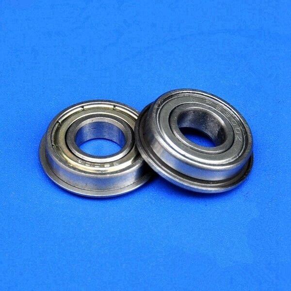 top popular 100pcs MF104ZZ 4mm flanged bearing 4x10x4 mm MF104 miniature shielded flange deep groove ball bearings 4*10*4 2021