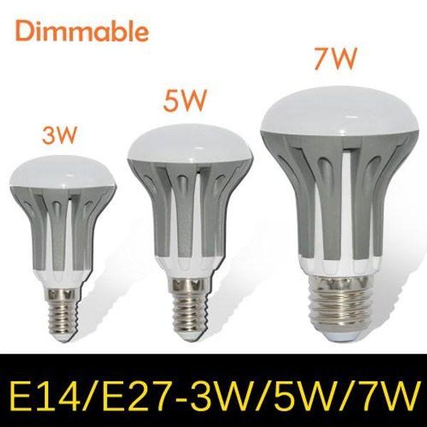 E14 E27 LED Dimmable 3W 5W 7W 9W R39 R50 R63 Bulbs Energy Saving bright SMD 2835 led Spot Globe Bulb AC110-240V lamps Umbrella LED Lighting