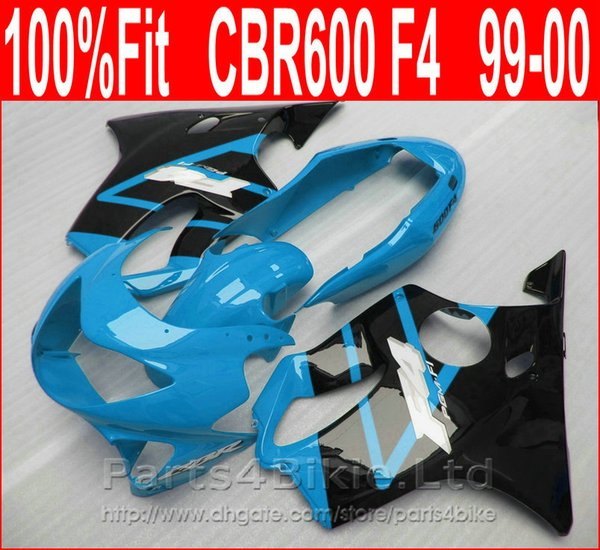 Perfect Fitment Body parts for Honda CBR 600 F4 custom fairings 1999 2000 CBR600 F4 99 00 blue fairing kit FXIU