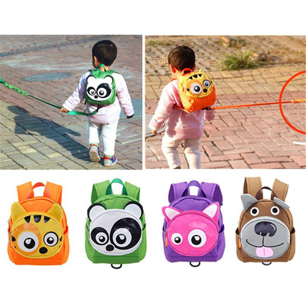 top popular Cute Animal Shape Baby Toddler Safety Harness Leash Tether Anti-lost Children Modeling Strap Backpack School Bag 2019