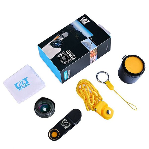Apexel new arrival high quality distortion effects super fisheye lens for mobile phone