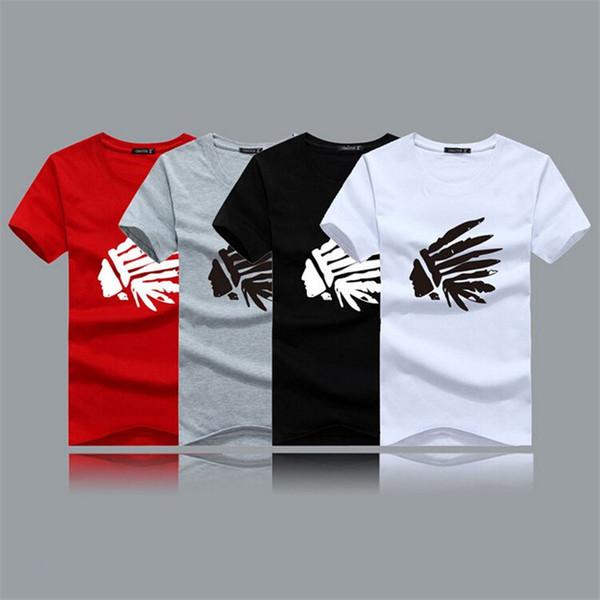 Man Indian pattern NEW 100% Cotton T-shirts Men's Short Sleeve ...