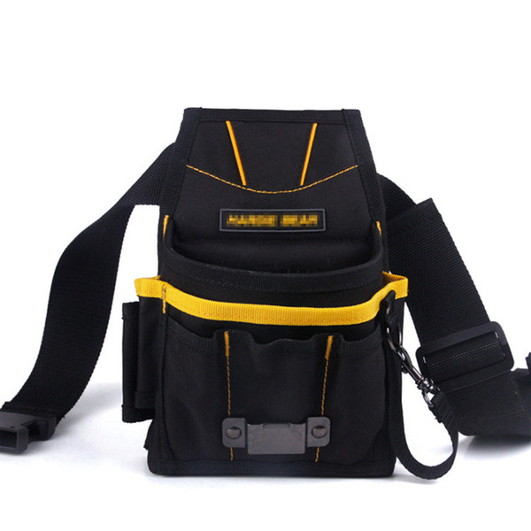 24*14*4cm 600D High density waterproof oxford Black Car wrapping tool bag Backpack tool bag with belt MX-700