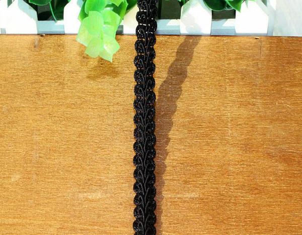 "20 Yard Width 0.4"" Black Hollow Centipede S Shape Lace Cotton Fabric Trim For DIY Bridal wedding Doll Cap"