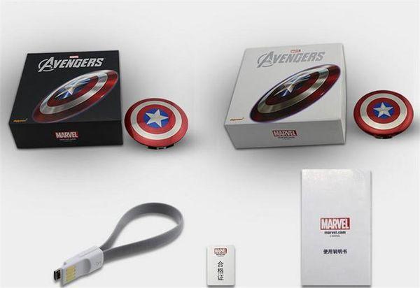 Power Bank 6800mAh Captain America Power bank Dual USB charger for smart mobile phone 6800mah Universal Portable pack free DHL