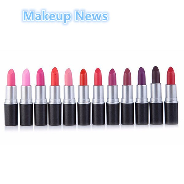 Wholesale-1pcs 12 Charming Color Waterproof Lipstick Maquiagem Long Lasting Matte Lipstick  Beauty Lips Batons Cosmetic Lipsticks