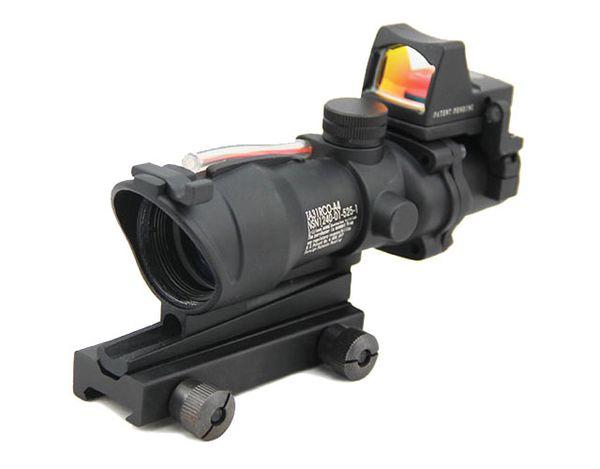 Portée de fusil ACOG 4X32 avec RMR Micro Red Dot Noir (R)