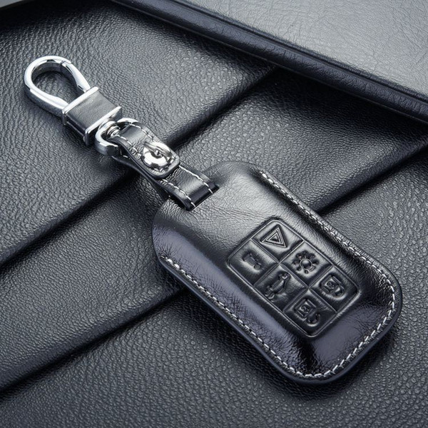 FOB leather key fob case cover for Auto volvo key case shell key holders wallet bags keychain accessories for volvo cars