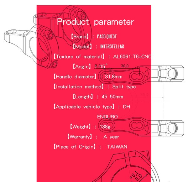 2019 138g INTERSTELLAR Taiwan PASS QUEST Alloy Anodic Oxidation Bicycle  Stem DH Downhill Mountain Bike Stem 15 Degree From Bennie168, &Price
