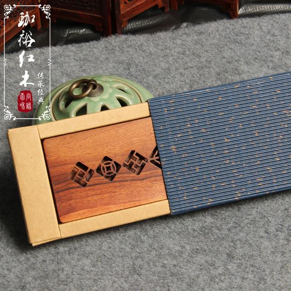 Großhandel Die Neuen Benutzerdefinierten Exquisite Mahagoni Holz Fensterrahmen Visitenkartenhalter Business Meeting Geschenke Kreative Geschenke