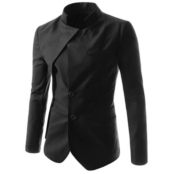 Wholesale-Chinese Style Mandarin Collar Men Solid Suit Jacket Best-selling Men Clothing Suit Blazer 3 Color PSX308