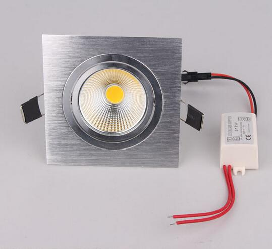 best selling Factory Directly Sales Square 10W 12W 1080lm Cob LED Ceiling Light Lamp Bulb Cool White Warm White LED Down Light Led Downlight
