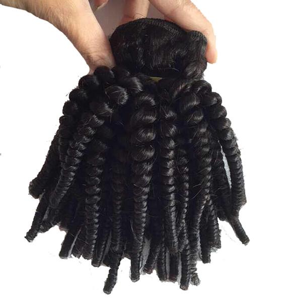 Unverarbeitete Indische Reine Haarbündel Nasses Und Wellenförmiges Kinky Curly Tiefe Welle Wasserwelle Tante Funmi Haar Menschenhaarverlängerungen