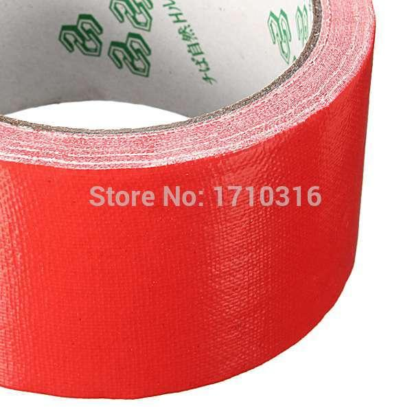 top popular 2016 Lowest Price Colorful Durable Single-Side 50mm x 10m Duct Gaffa Gaffer Waterproof Self Adhesive Repair Cloth Tape 2021