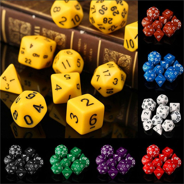 best selling 10pcs Set Polyhedral Dungeons & Dragons Daggerdale Dice For DnD MTG RPG Poly Dice Board Games Gathering Toy with Dice Bag