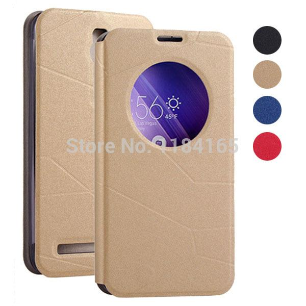 Wholesale-Fashion Smart Leather Case with View Windows & Stand for ASUS Zenfone 2(5.5) / ZE551ML Phone Cover