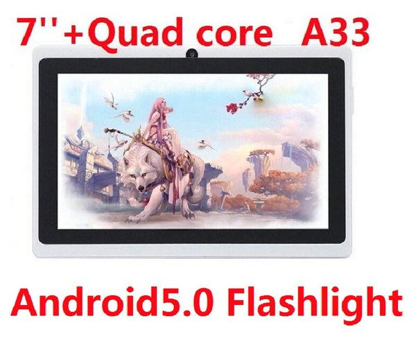 Tablet PC Quad Core Flashlight 7 inch Q88 Android 5.0 Dual Camera capacitive screen 512MB 4GB Wifi MID DHL FREE