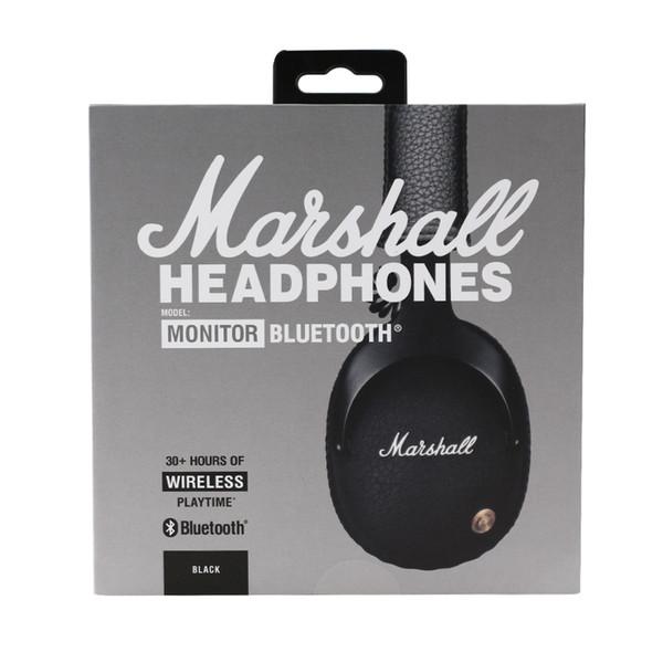 Marshall Monitor Bluetooth Inalámbrico HiFi Auriculares Casco de audio Auriculares inalámbricos de oreja con caja al por menor Venta caliente