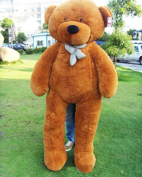 "2015 new arrival giants ""right Angle size 200 cm / 78 inches teddy bear plush huge plush toys plush toys 5 color brown valentine's day gift"