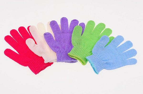 top popular Factory Price Exfoliating Glove Skin Body Bath Shower Loofah Sponge Mitt Scrub Massage Spa 2019