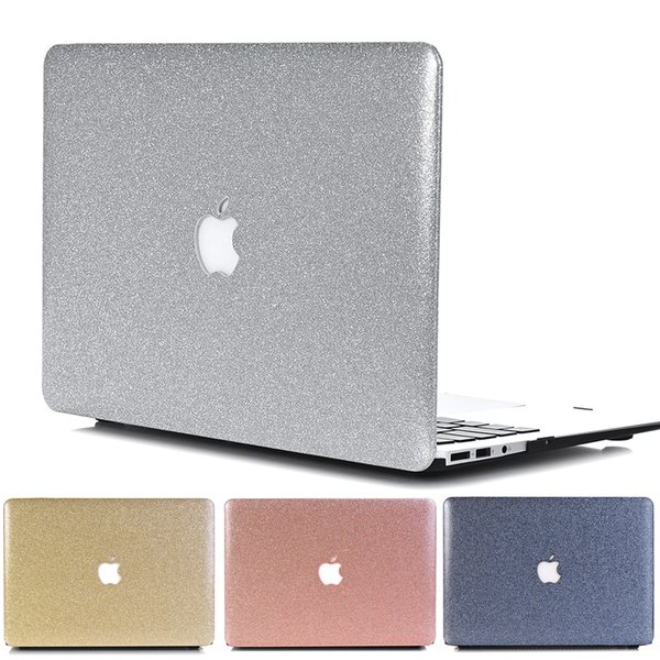 Shine Glitter Hard Laptop Case Cover For Macbook Air Pro Retina 11 12 13 15 13.3 inch with Touch Bar A1706 A1707 A1708 Shell bag Free DHL
