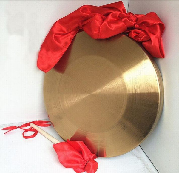 best selling 32cm Gong Feng Shui Opening Wedding Flood Warning Cymbals Percussion Instrument
