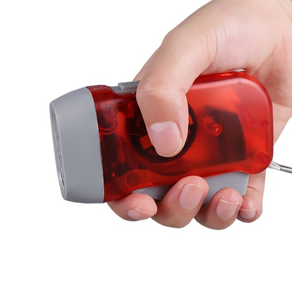 2017 New 3 LED Dynamo Wind Up Flashlight Hand-pressing Crank NR No Battery Torch Hot Worldwide Easy Use DHL Free