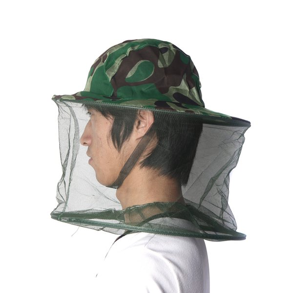 29378ee2036fa 5pcs lot Foldable Outdoor Field Jungle Fishing Bucket Hat Mask Cap Mosquito  Bee Insect Hiking