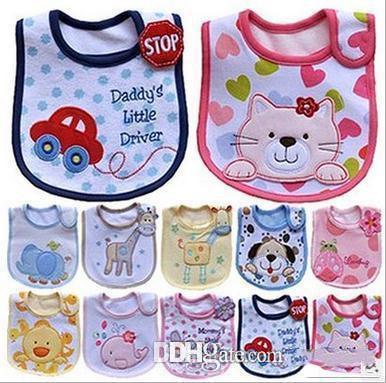 Salopette in cotone per neonato Saliva Asciugamani Bavaglino per neonato Impermeabile Neonato Accessori per cartoni animati 94 stile c021