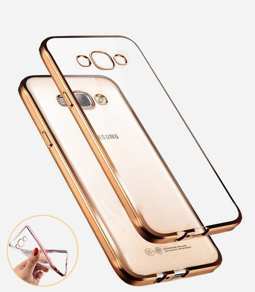 Luxury Style Plating Gilded TPU Soft Silicone Phone Case Cover For Samsung Galaxy A3 A5 A7 2016 J5 J7 Grand Neo Prime