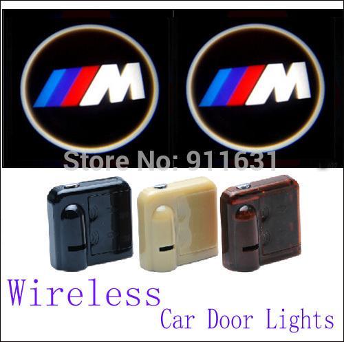 Wireless Car Led Door Lights For BMW M E34 E36 E39 E46 Car Logo Door Lights Car Projector Welcome Projector Shadow