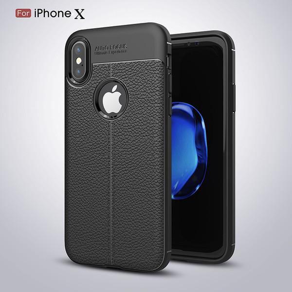 Custodie per il telefono Custodia per iPhone X Nuova custodia di design in pelle TPU ultra sottile sottile di lusso per iPhone 6s 6 7 8 Plus 5 shell