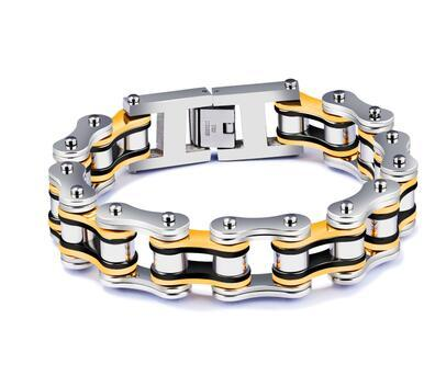 New Arrival Top quality 316L Stainless steel bicycle chain Bracelet for man punk style fashion jewelry
