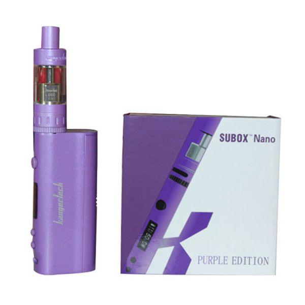 1pcs Authentic Kanger Subox Nano Starter Kit with 3ML Subtank Nano vape Atomizer 50W Kbox nano black white pink purple in stock