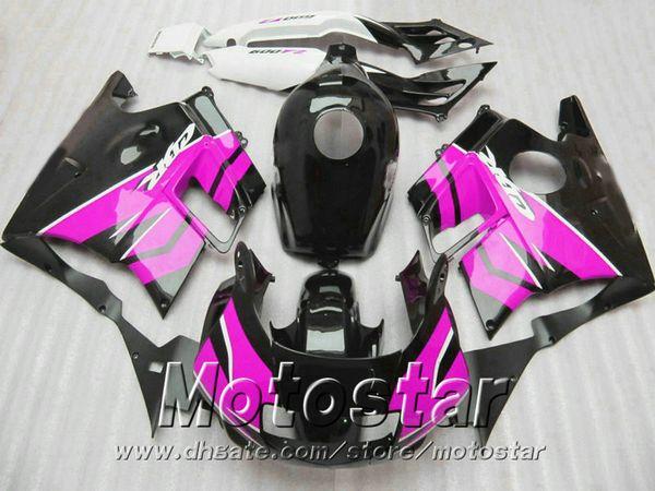 High quality fairings set for HONDA CBR 600 F2 1991 1992 1993 1994 CBR600 91 - 94 rose red black fairing body kit RP31