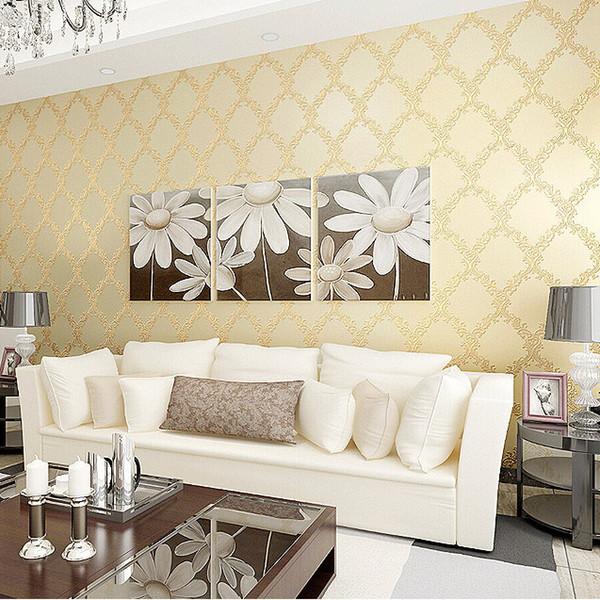 Beautiful carta da parati classica per camera da letto for Carta da parati per soggiorno classico