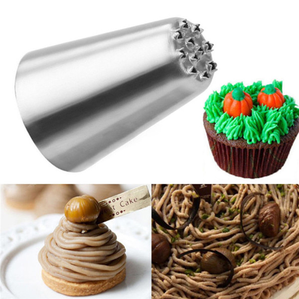 Wholesale- Russian Tulip Icing Piping Nozzles Cupcake Decoration Rose Pastry Tips Tool XMAS