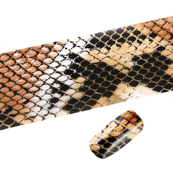 Wild Sexy Nail Art Sticker Python Snake Skin Gradient Wildlife Design 3d  Manicure Pedicure Decorations Diy Nails Accessory New Nail Stencil Stickers